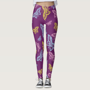 Colorful Butterflies Design Leggings