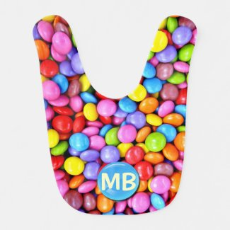Colorful Candies Personalize Photo Baby Bib
