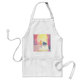 Colorful Cats on a Sunny Sofa Adult Apron