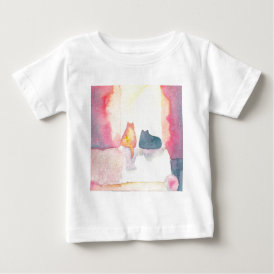 Colorful Cats on a Sunny Sofa Baby T-Shirt