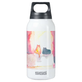Colorful Cats on a Sunny Sofa Insulated Water Bottle
