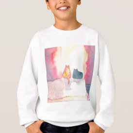Colorful Cats on a Sunny Sofa Sweatshirt
