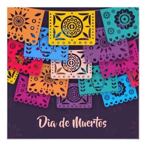 Colorful Dia de Muertos Banners   Party Invitation