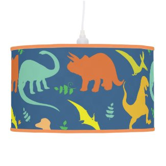 Colorful Dinosaur Pattern Hanging Pendant Lamps