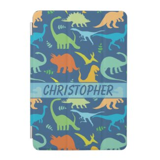 Colorful Dinosaur Pattern to Personalize iPad Mini Cover