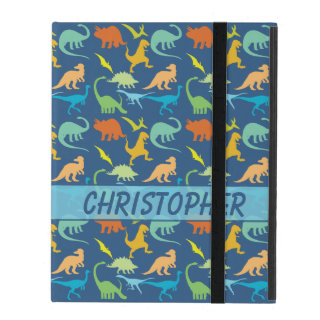 Colorful Dinosaur Pattern to Personalize iPad Cover