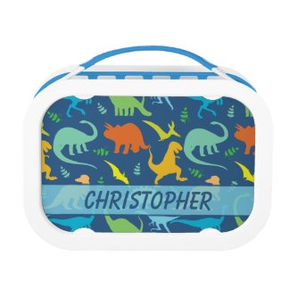 Colorful Dinosaur Pattern to Personalize Yubo Lunchboxes