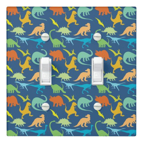 Colorful Dinosaurs Light Switch Cover