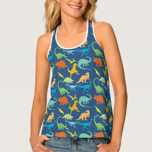 Colorful Dinosaurs Tank Top