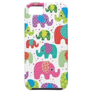Colorful elephant kids pattern iphone 5 case