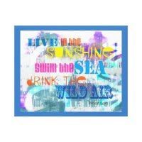 colorful Emerson quote stretched canvas wall art | Zazzle