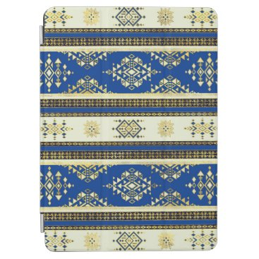 Colorful Etnic Ornament - Blue and beige iPad Air Cover