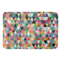 Colorful Geometric Pattern Bath Mat