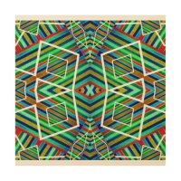 Colorful Geometric Tribal Abstract Pattern Style Wood Wall ...