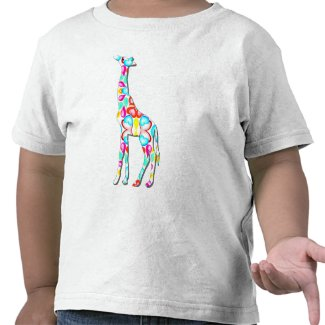Colorful giraffe zazzle_shirt