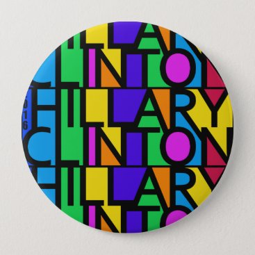 Colorful Hillary Clinton 2016 buttons