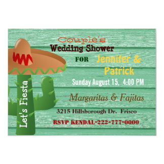 Colorful Mexican Fiesta Couple 39 S Wedding Shower Card