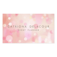 Colorful Pastel Lights Bokeh Business Card