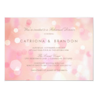 Colorful Pastel Lights Rehearsal Dinner Invitation