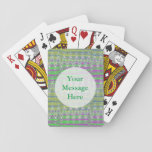 Colorful Pastel Zigzag Pattern Deck Of Cards