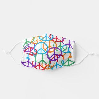 Colorful Peace Symbols Cloth Face Mask