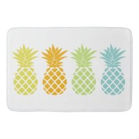 Colorful Pineapples Bath Mat