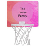 Colorful Pink Orange Texture Design Mini Basketball Hoops