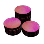 Colorful Pink Orange Texture Design Poker Chips