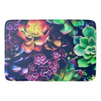 Colorful Plants Bath Mat