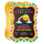 ❤️ Colorful Rainbow Kids Birthday Party Invitation