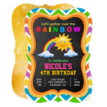 ❤️ Colorful Rainbow Kids Birthday Party Invitation