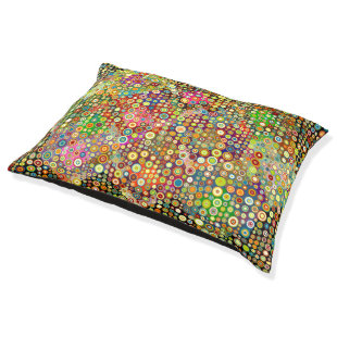 Colorful retro spots pattern   your ideas large dog bed