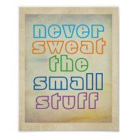 colorful text motivational quote poster wall art | Zazzle