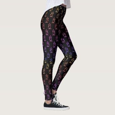 Colorful Tweety Pattern in Black Trendy Teen Leggings