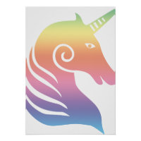Colorful Unicorn Poster