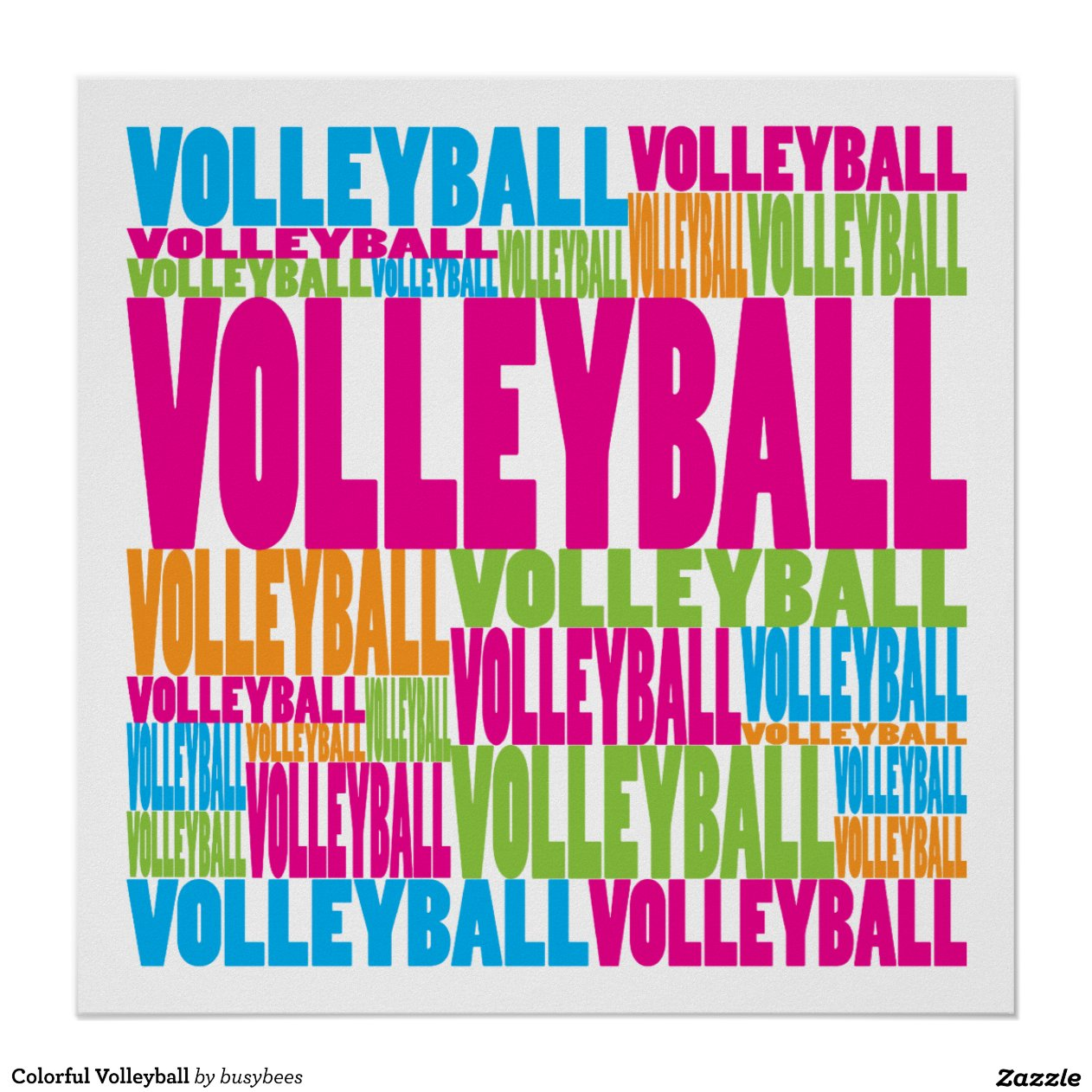 Colorful Volleyball Poster
