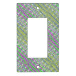 Colorful Zigzag Pattern Light Switch Cover