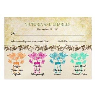 Colorful Zinnia Mason Jar Wild Flower Wedding Business Card Templates
