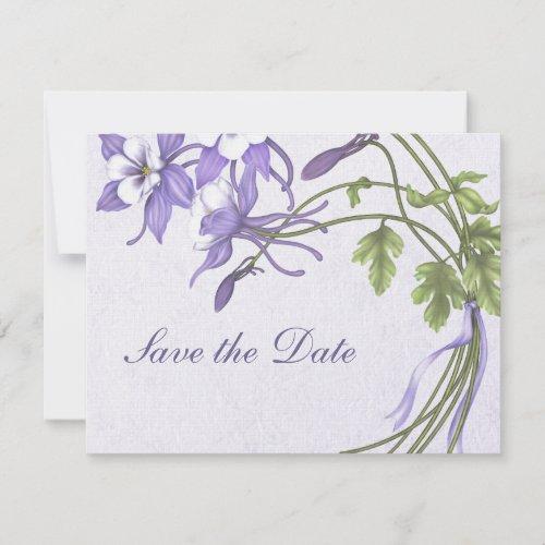 Columbine Bouquet Save the Date