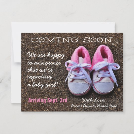 coming soon baby shoes