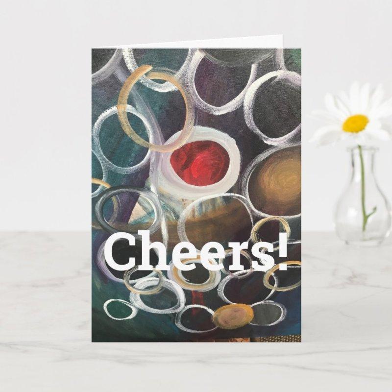 Community Acrylic Painting Folded Greeting Card