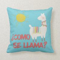 Como Se Llama Funny Spanish Pun Throw Pillow