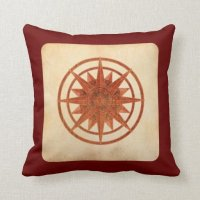 Compass Rose Throw Pillow | Zazzle