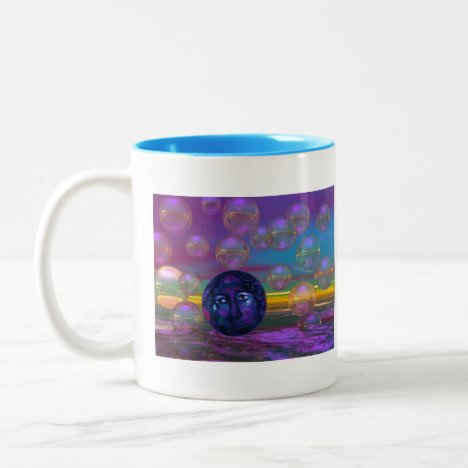 Compassion – Violet and Gold Awareness Two-Tone Coffee Mug