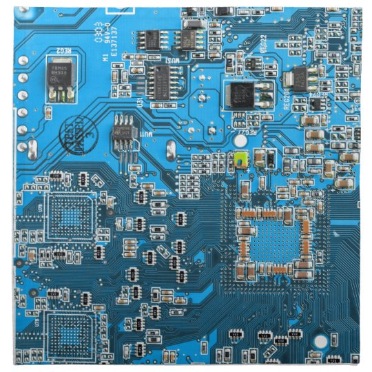 Computer Geek Circuit Board Blue Cloth Napkin Zazzle