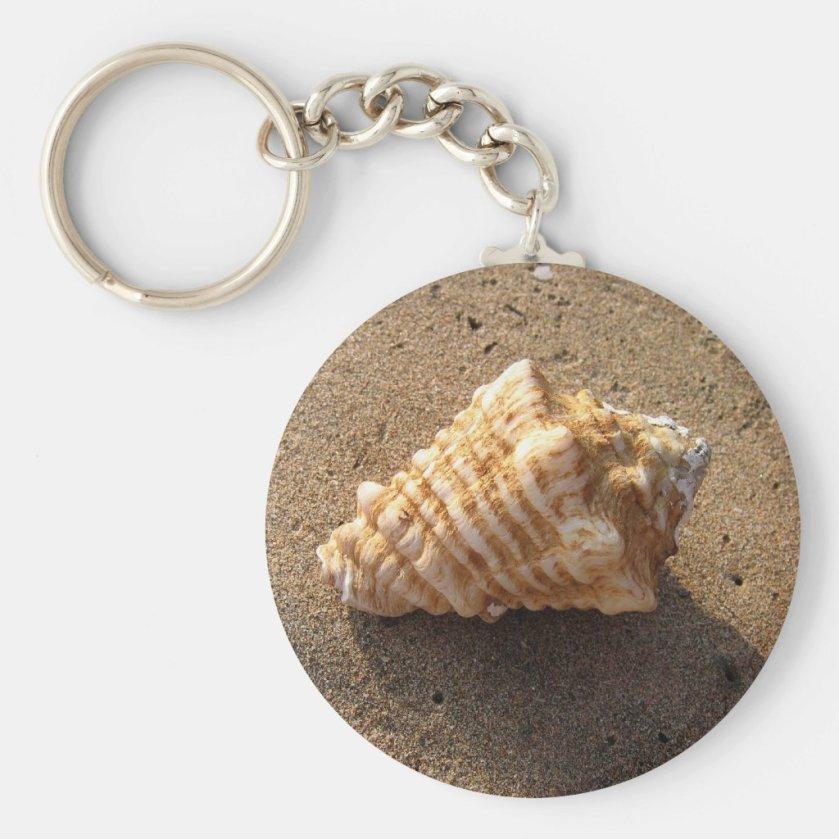Conch Sea Shell Sand Beach Keychain