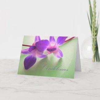 Condolence Card (purple orchids) card