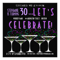 Confetti Cocktail Birthday Pary Invitation