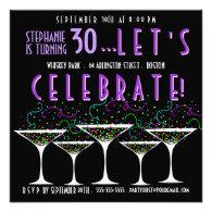 Confetti Cocktail Birthday Pary Invitation