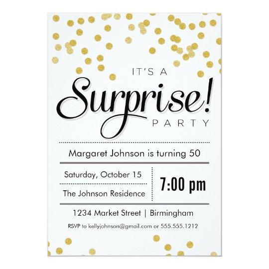 Confetti Surprise Party Invitation Zazzlecom